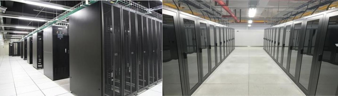 泉州EC电信数据中心机柜实景图